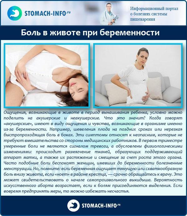 Болит внизу живота у беременной 89