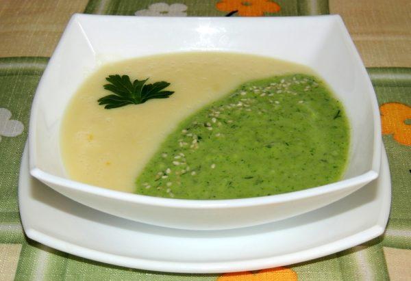 Суп-пюре из молодого кабачка и брокколи