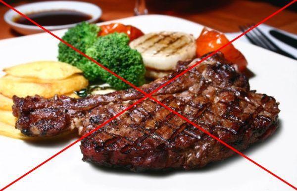 Жирная и жареная пища противопоказана