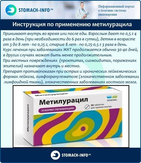 Инструкция по применению метилурацила