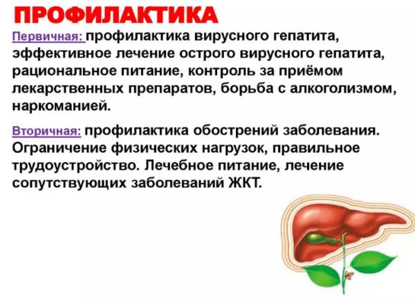 Профилактика цирроза