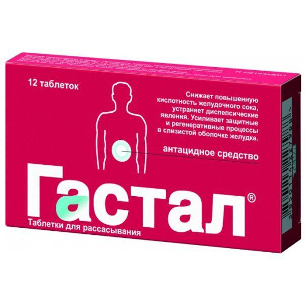 Таблетки для рассасывания при изжоге Гастал