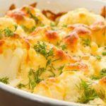 Запеканка из капусты, болгарского перца и курицы с нежирным сыром