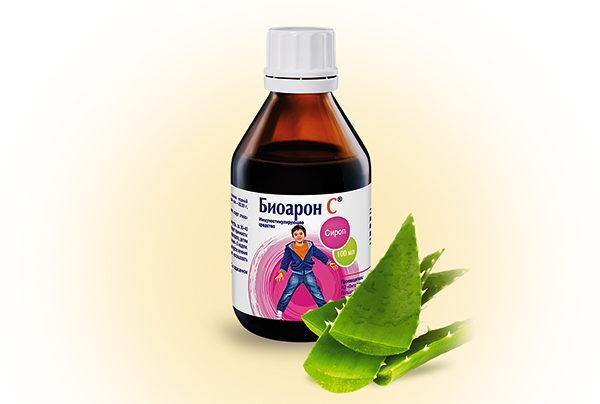 Биоарон С оказывает общее укрепляющее воздействие, благодаря повышенному содержанию аскорбиновой кислоты и экстракта из листьев алоэ