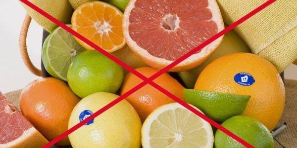 Цитрусовые категорически запрещены при диарее