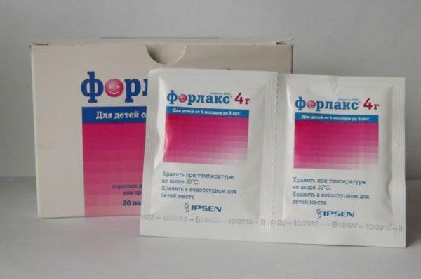 Форлакс – синтетическое слабительное средство. Разрешен к применению детям с 6 месячного возраста