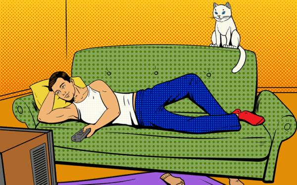 Малоподвижный образ жизни связан с нарушениями работы кишечника
