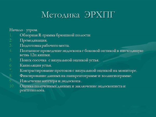Методика ЭРХПГ