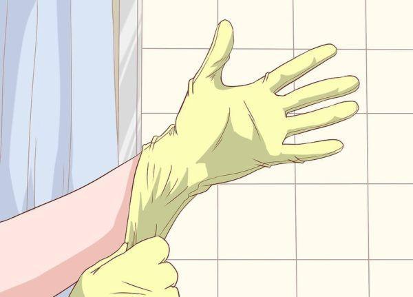 Наденьте одноразовые латексные перчатки или резиновый напальчник