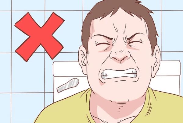 Не напрягайтесь при опорожнении кишечника