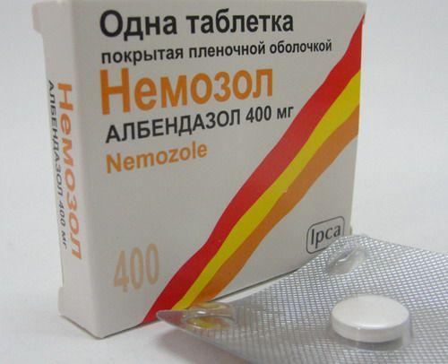 Немозол полностью блокирует возможность дальнейшего размножения гельминтов