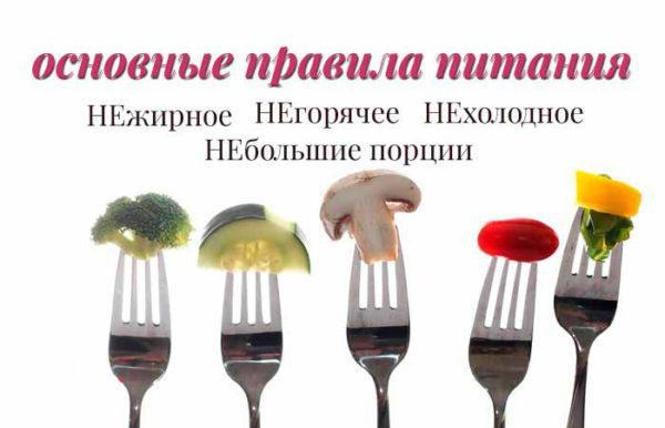 Правила питания при выбросе желчи в желудок