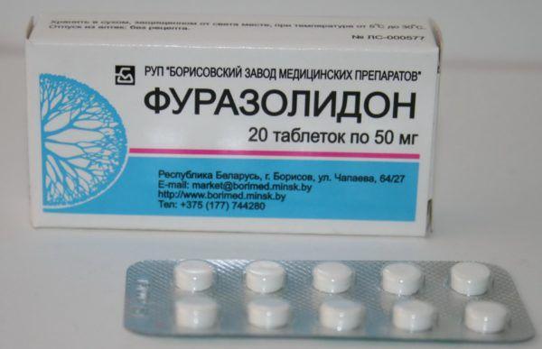 Препарат Фуразолидон позволяет снять приступы кишечной колики, признаки интоксикации и предотвратить размножение вредных бактерий