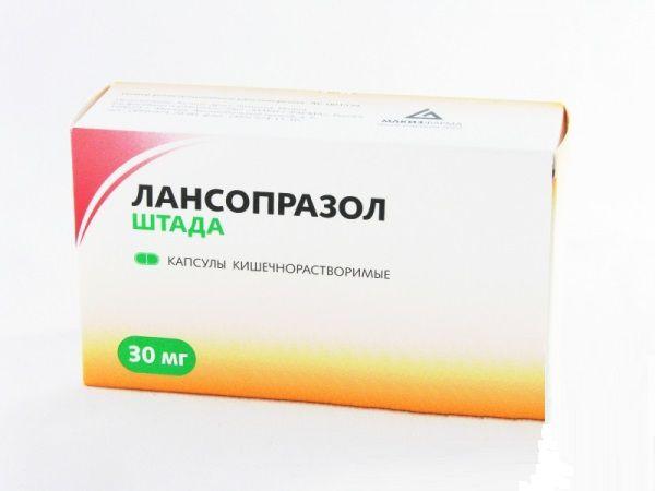 Препарат Лансопразол хорошо справляется с изжогой, спровоцированной развитием язвенной болезни
