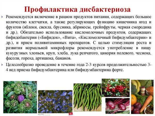 Профилактика дисбактериоза