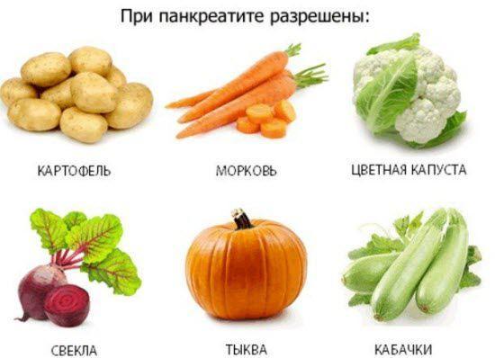 Разрешенные овощи при панкреатите