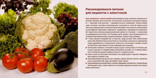 Рекомендованное питание для пациентов с илеостомой
