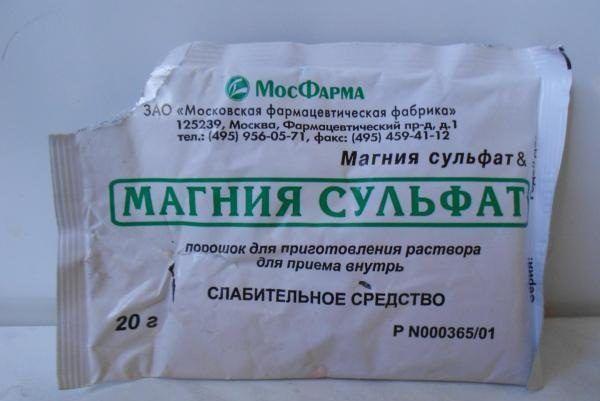 Слабительное средство магния сульфат