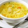 Суп на курином бульоне с лапшой