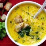 перловый суп с сухариком