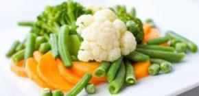 Блюда, которые приготовлены на пару: овощи без аллергенов