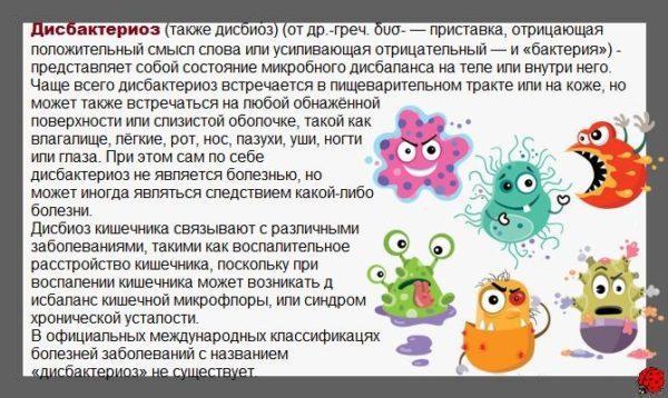 Что такое дисбактериоз кишечника