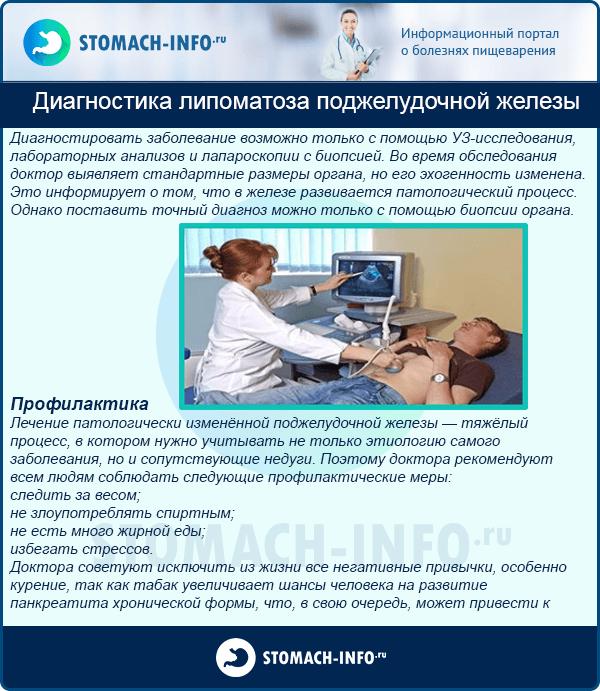 Диагностика липоматоза поджелудочной железы