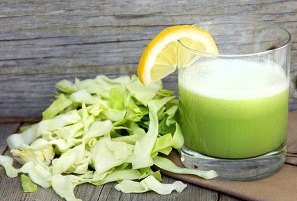 Капустный сок способен помочь в заживлении язвы желудка