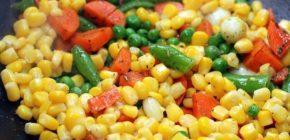 Консервированные овощи (горох, кукуруза, и т. д.), 1⁄2 стакана