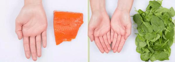 Красная рыба и салат