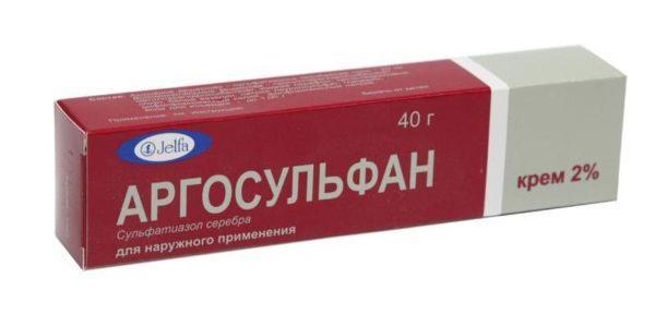 Крем Аргосульфан оказывает антибактериальное действие