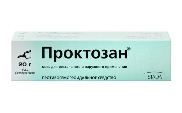 Мазь Проктозан улучшает кровообращение тканей и заживляет поврежденные очаги