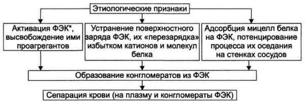 Механизмы развития сладжа