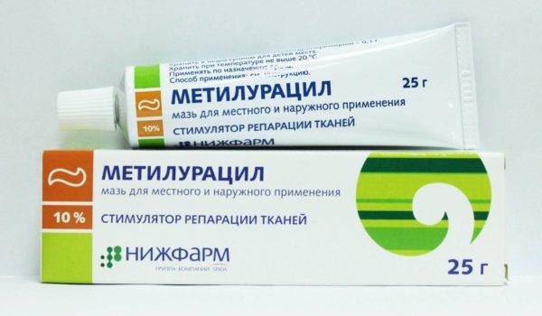 Метилурацил оказывает быстрое ранозаживляющее воздействие, предотвращает дальнейшее раздражение и распространение воспалительного процесса
