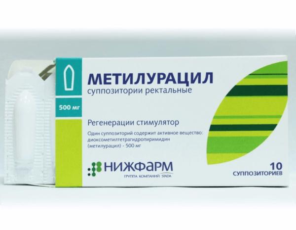 Метилурацил останавливает кровотечение, заживляет ткани и дезинфицирует их