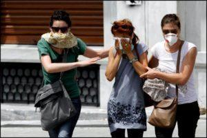Нарушение целостности слизистой желудка и пищевода вследствие вдыхания раздражающих или отравляющих веществ