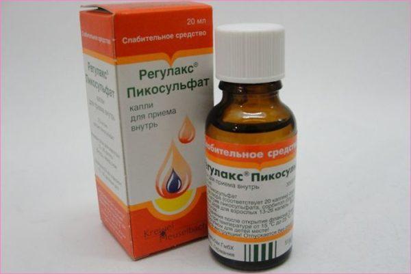 Препарат Регулакс Пикосульфат в форме капель