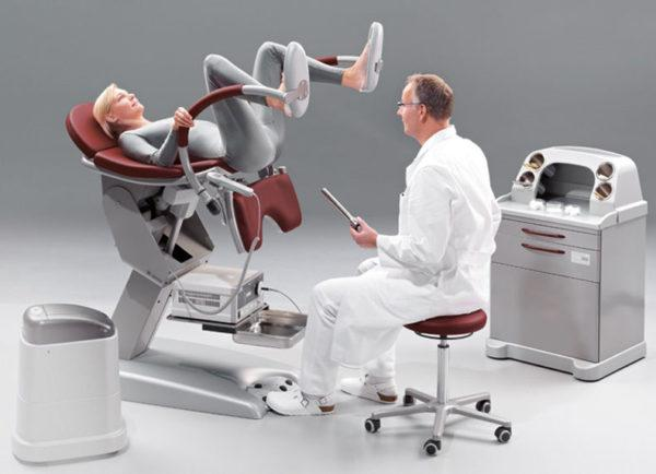 Проктологическое кресло для осмотра