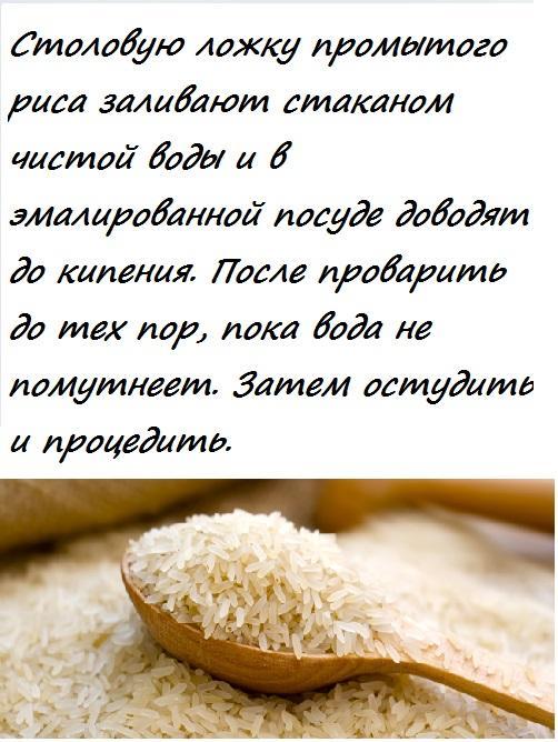 Рецепт рисового отвара