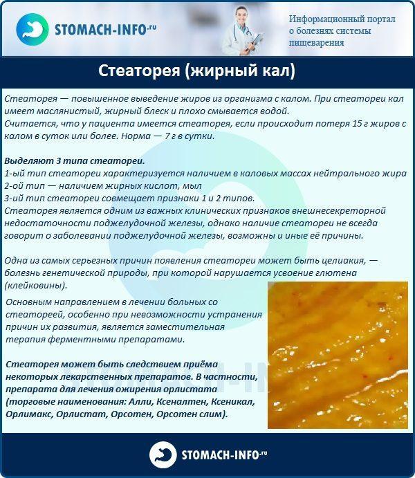 Стеаторея (жирный кал)