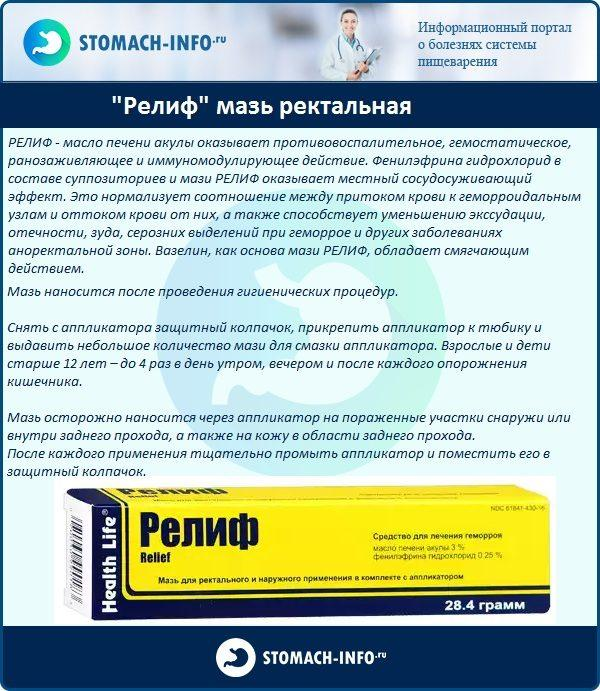 """Релиф"" мазь ректальная"