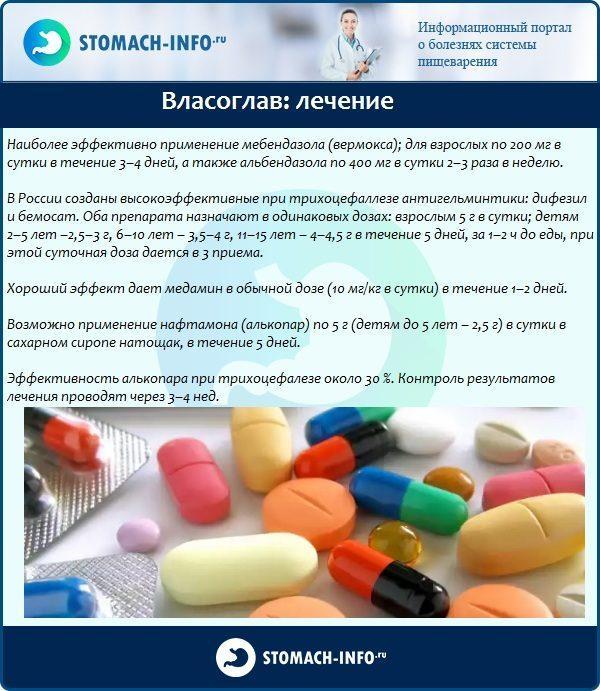 Власоглав: лечение