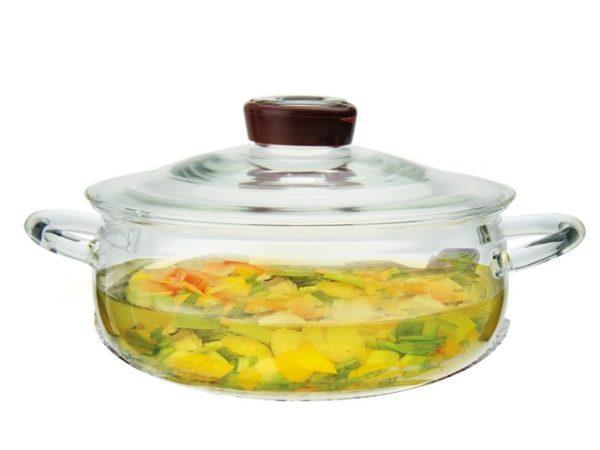 Стеклянная посуда для приготовления пищи прочная и безопасная