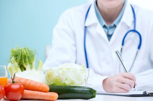 В период лечения нужно правильно питаться