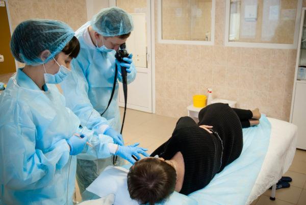 Введение эндоскопа