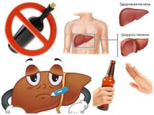 «Алкогольный» гепатит