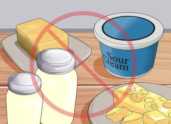 Избегайте жирных продуктов
