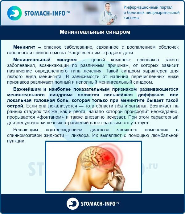 Менингеальный синдром