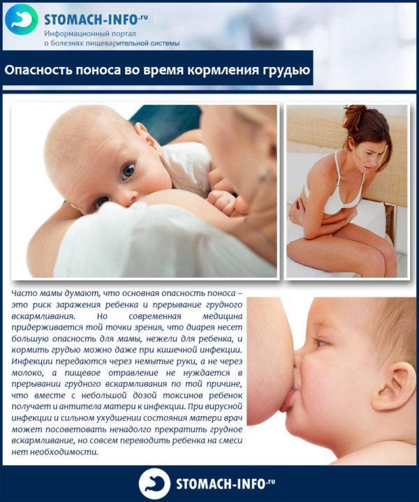 Опасность поноса во время кормления грудью