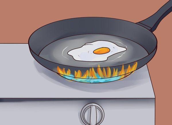 Правильно готовьте яичные и мясные блюда